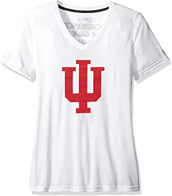 adidas NCAA Womens Phase Hat Hook Ultimate Short Sleeve V Tee