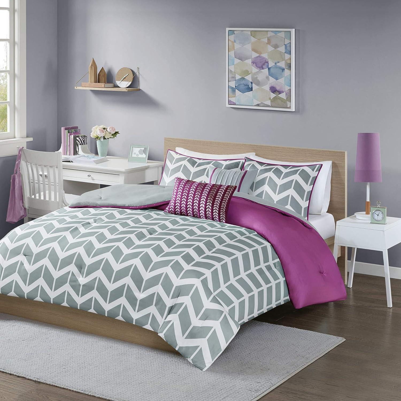 Intelligent Design Nadia Comforter Set Full/Queen Purple