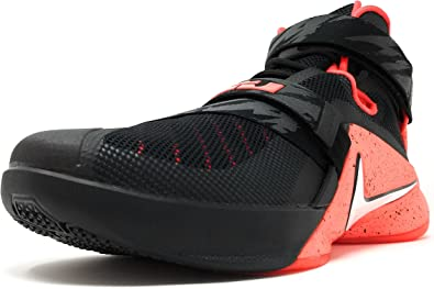 Nike Zapatillas Abotinadas Lebron Soldier IX PRM Negro/Rojo EU 46 ...