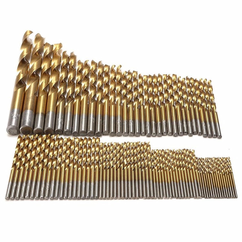 Titanbohrer Edelstahlbohrer 1-13 mm 1 mm 1 St/ück HSS-TiN DIN 338 Metallbohrer