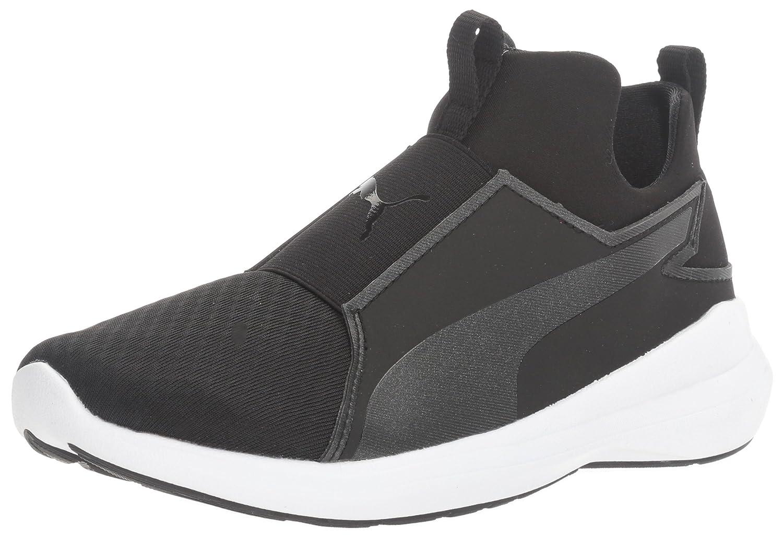 PUMA Women's Rebel Mid WNS Sneaker B01M26RJ8G 6 B(M) US|Puma Black-puma Black-puma White
