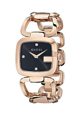 2488d5492 Amazon.com: Gucci G-Gucci Gold PVD Diamond-Accented Women's Watch(Model:YA125409):  Watches