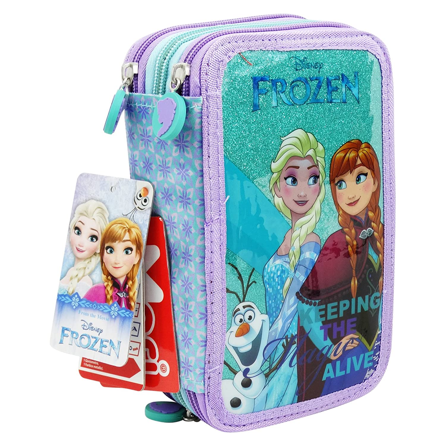 Disney Frozen Estuche Escolar Làpices de colores Plumier ...