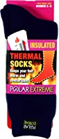 Women's Polar Extreme Moisture Wicking Insulated Thermal Socks in 4 Great Colors