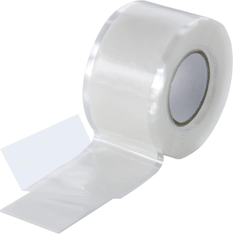 Poppstar - Cinta de silicona de autofusión, 1 x 3 m, ideal como cinta de reparación, cinta aislante y cinta de sellado (estanca, hermética), 25mm de ancho, color blanco