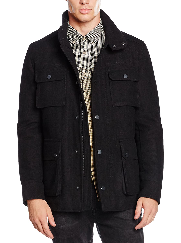 Honey GD Womens Skinny Long Sleeve Lapel Belt Woolen Blazer Coat