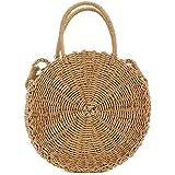 UNYU Straw Crossbody Bag Women Weave Shoulder Bag Round Summer Beach Purse and Handbags Bohemia Style For Ladies Girls