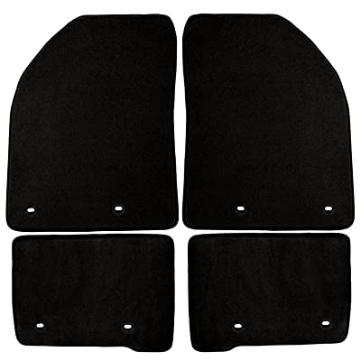 Coverking Front and Rear Floor Mats for Select Hyundai Santa Fe Models - 40 Oz Carpet (Black)