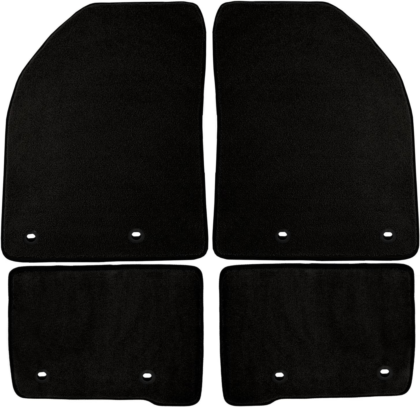 Carpet Black 70 oz Coverking Front and Rear Floor Mats for Select Mercury Grand Marquis Models