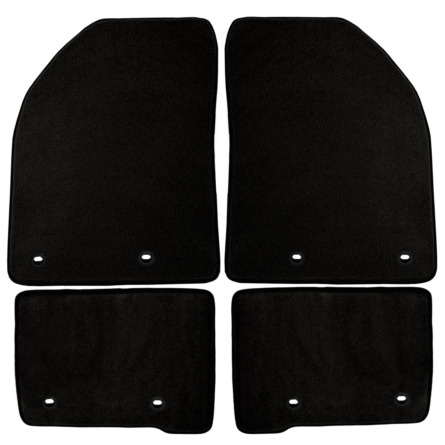 Nylon Carpet CFMBX1HI9250 Black Coverking Custom Fit Front and Rear Floor Mats for Select Hyundai Tiburon Models