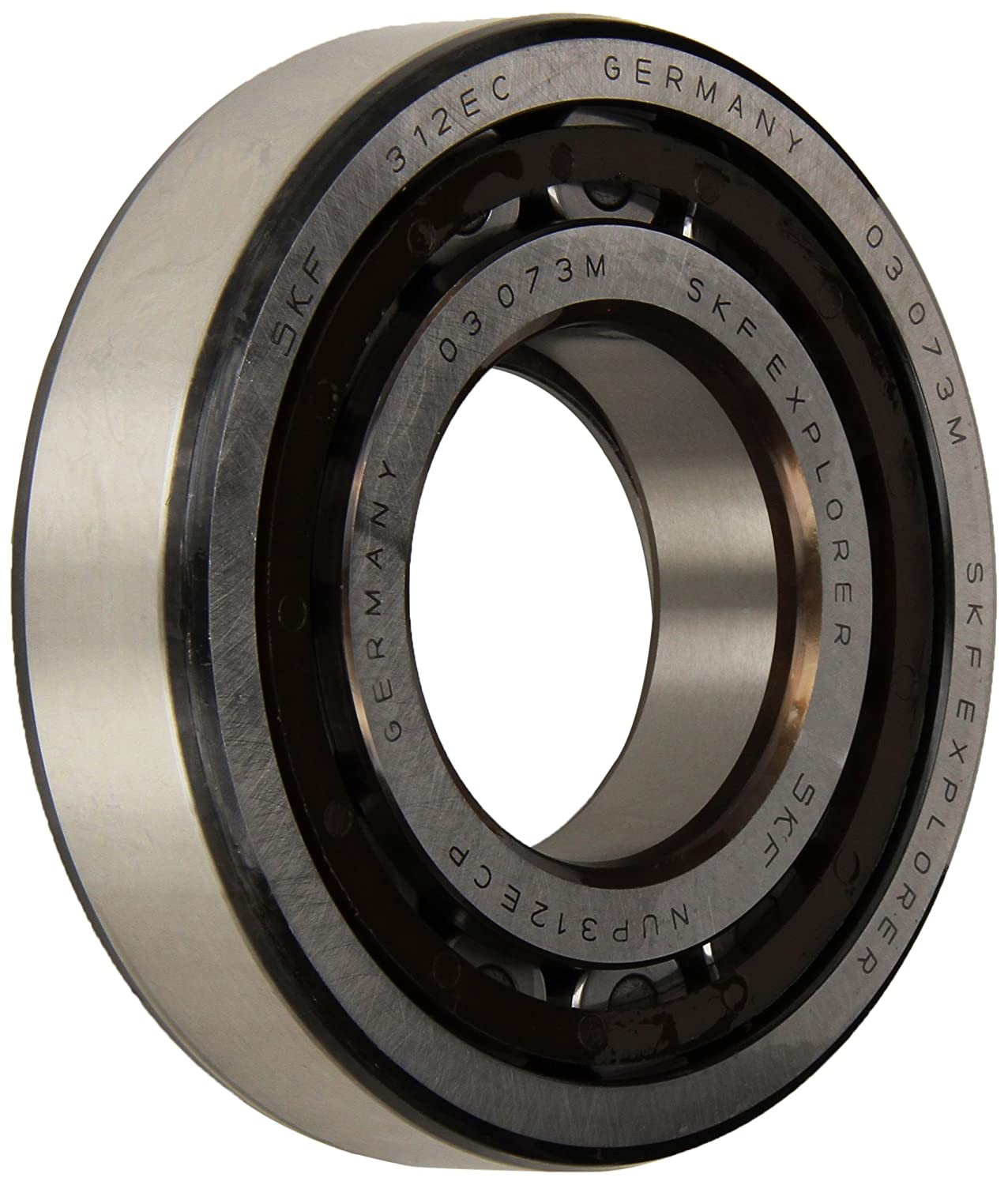 SKF Cylindrical Radial Roller Bearing, 60 ID, Bearing steel NUP 312 ECP
