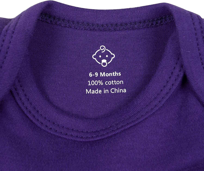 RomperinBox Unisex Solid Baby Bodysuit for Infant Boys Girls 0-24 Months