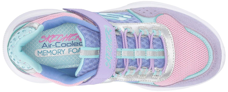 2 Medium US Little Kid Skechers Kids Girls Meridian Sneaker Lavender//Multi