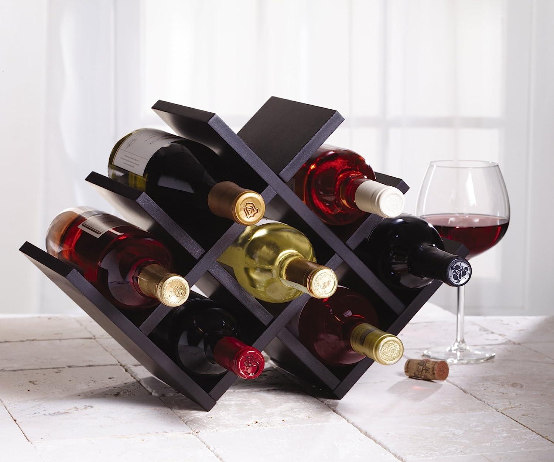 8 Bottle Cabinet or Countertop Butterfly Wine Rack