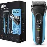 Braun Series3 ProSkin 3040s Afeitadora eléctrica para hombre, inalámbrica y recargable, color negro y azul