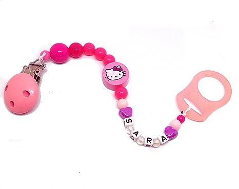 Chupete kette| Hello Kitty - Con Grabado de nombres rosa ...