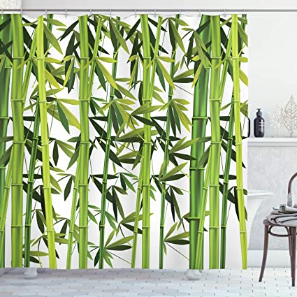 Tessuto Set di Decorazioni per Il Bagno con Ganci Smeraldo Verde di Calce Bianca ABAKUHAUS Scacchi Tenda da Doccia Irish Mosaico Verde 175 x 180 cm