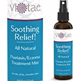 100% Natural Psoriasis-Eczema Treatment Healing & Relief Mist - Gentle, Fast Acting - 'Soothing Relief!' by Vi-Tae - Effective Relief Of Psoriasis, Eczema, Dermatitis, Itchy & Dry Skin - 4.46oz
