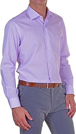APLOMB Camisa Hombre Regular Lila 44: Amazon.es: Ropa y accesorios