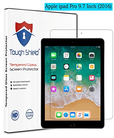 TOUGH SHIELD reg; 0.3 mm 9H Flexible Gorilla Guard Tempered Glass Screen Protector Shield for Apple iPad Pro  2016  9.7 Inch Screen Size  Pack of 1  S