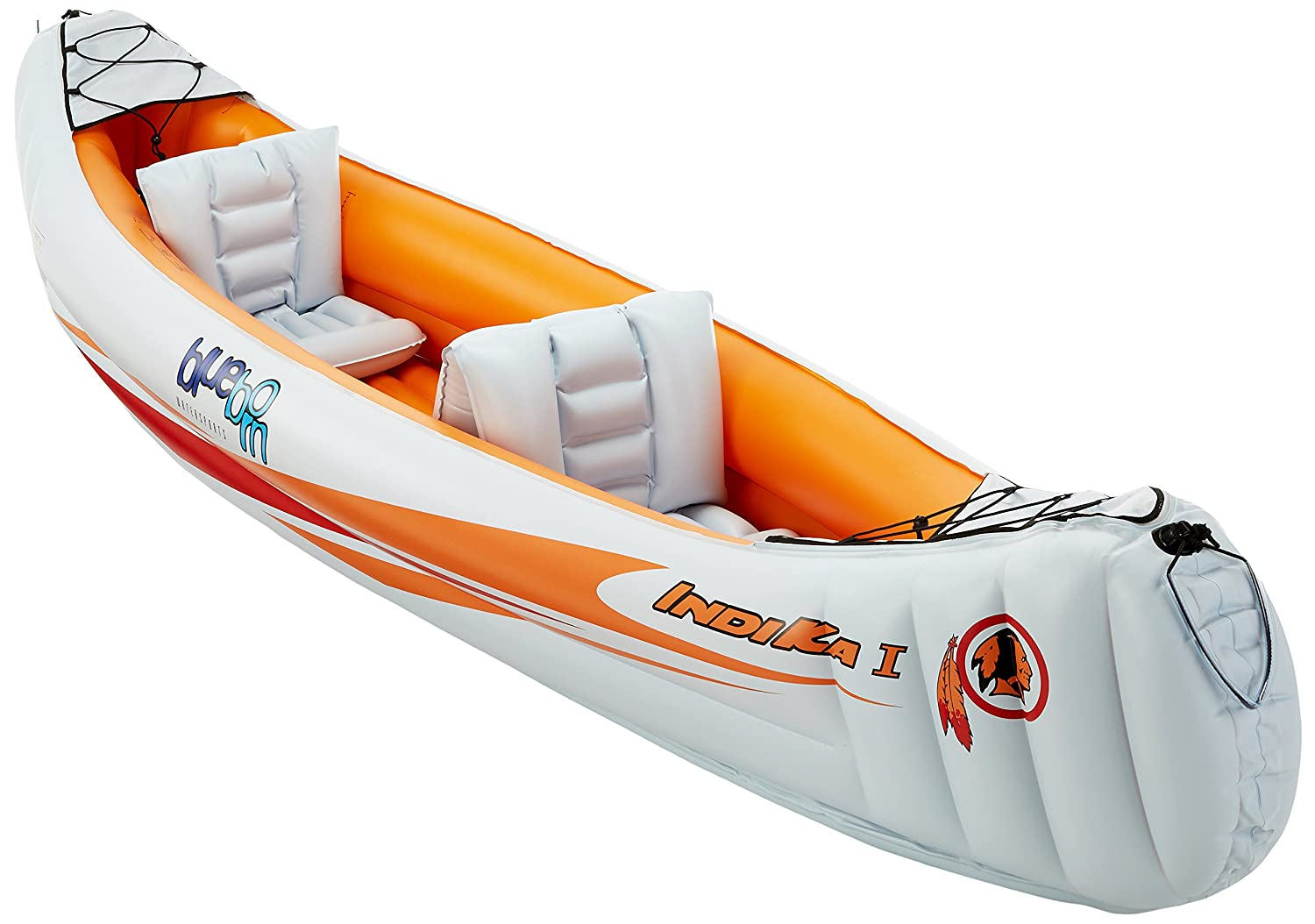 BLUEBORN Boat Indika 1-2 person canoe 320x80cm (load capacity 165kg) 520583 520583_orange/hellblau
