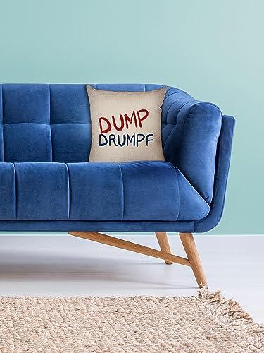 Hollywood Thread Dump Drumpf – Anti-Trump President Decorative Linen Throw Cushion Pillow Case with Insert
