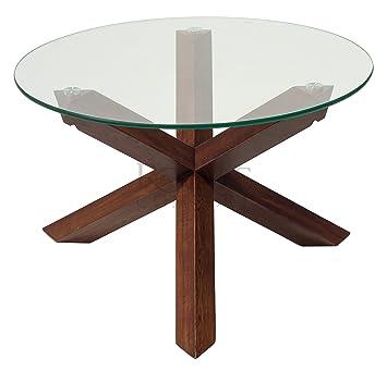 Royale Comfort Torino Range Solid Oak Glass Coffee Dining Table Lamp End Dark Wood Living Room Furniture Coffee Table