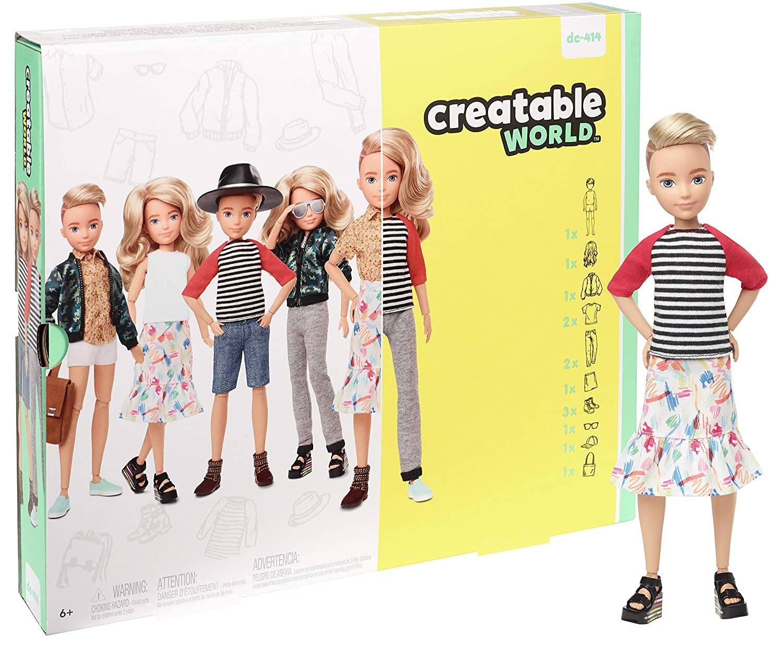 Creatable World Deluxe Character Kit Customizable Doll, Blonde Wavy Hair