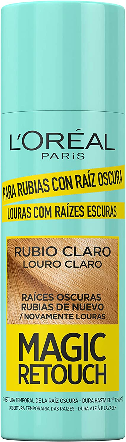 L´Oreal Paris Magic Retouch Spray, Retoca Raíces Oscuras para Cabellos Rubios Claros - Paquete de 3 x 100 ml - Total: 300 ml