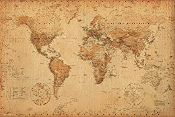 World Map (Antique) Art 24x36 Poster on license plate of world, map outline world, map with equator, world map flash, blank map world, rivers of the world, world map for pc, geography world, region of world, biomes of the world, atlas of world, physical map world, diagram of world, water of world, political world map, cities of world, world map time, seven wonders of the world, free world map, globe of world, deserts of the world, map madagascar, continents of world, oldmap of world, topography of world,