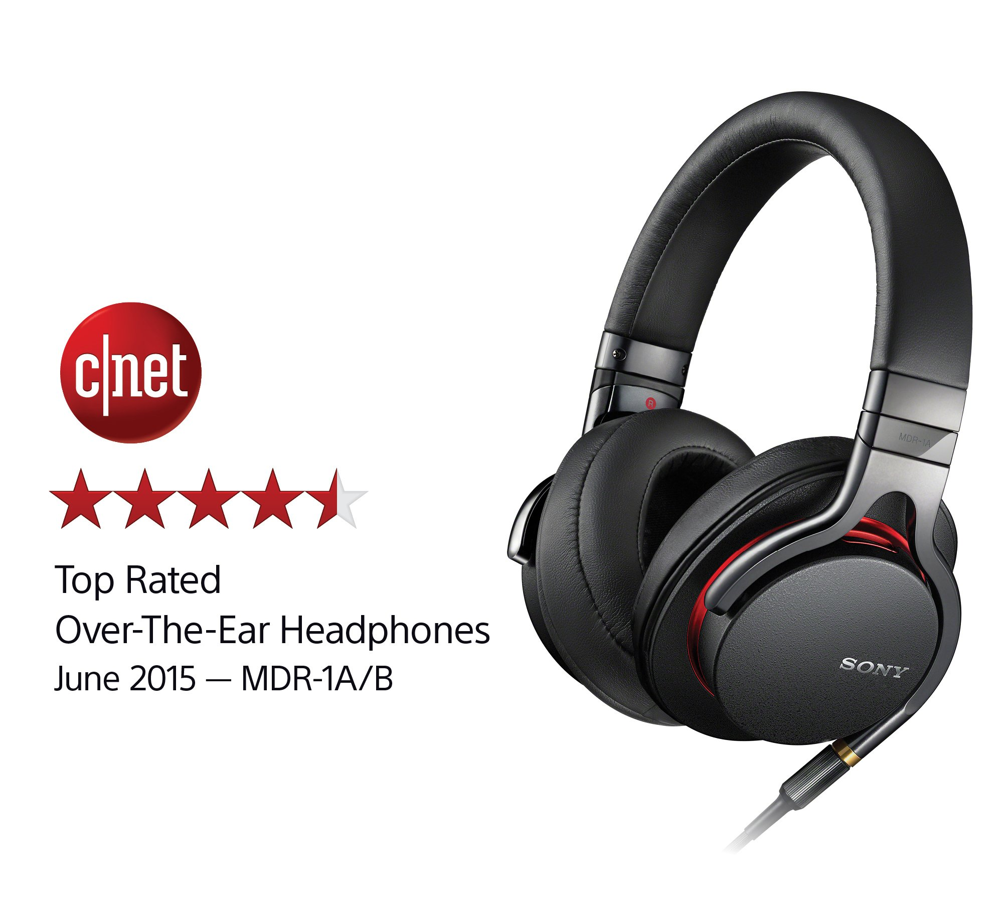Sony MDR1A Premium Hi-Res Stereo Headphones (Black) by Sony (Image #2)