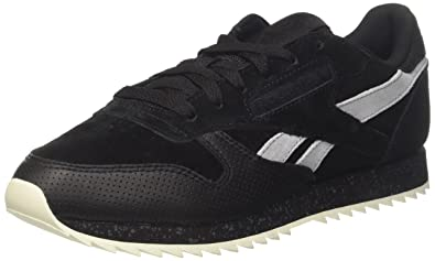 ad484ea7 Reebok Men's Classic Leather Ripple SM Running Shoes, (Black/Cool ...