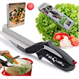 FabQuality Clever Cutter Knife Cutter 2-in-1 Kitchen Tool Slicer Dicer Vegetable Chopper Replacement Knife - Bonus Knife Included + Healthy eating eBook (English)