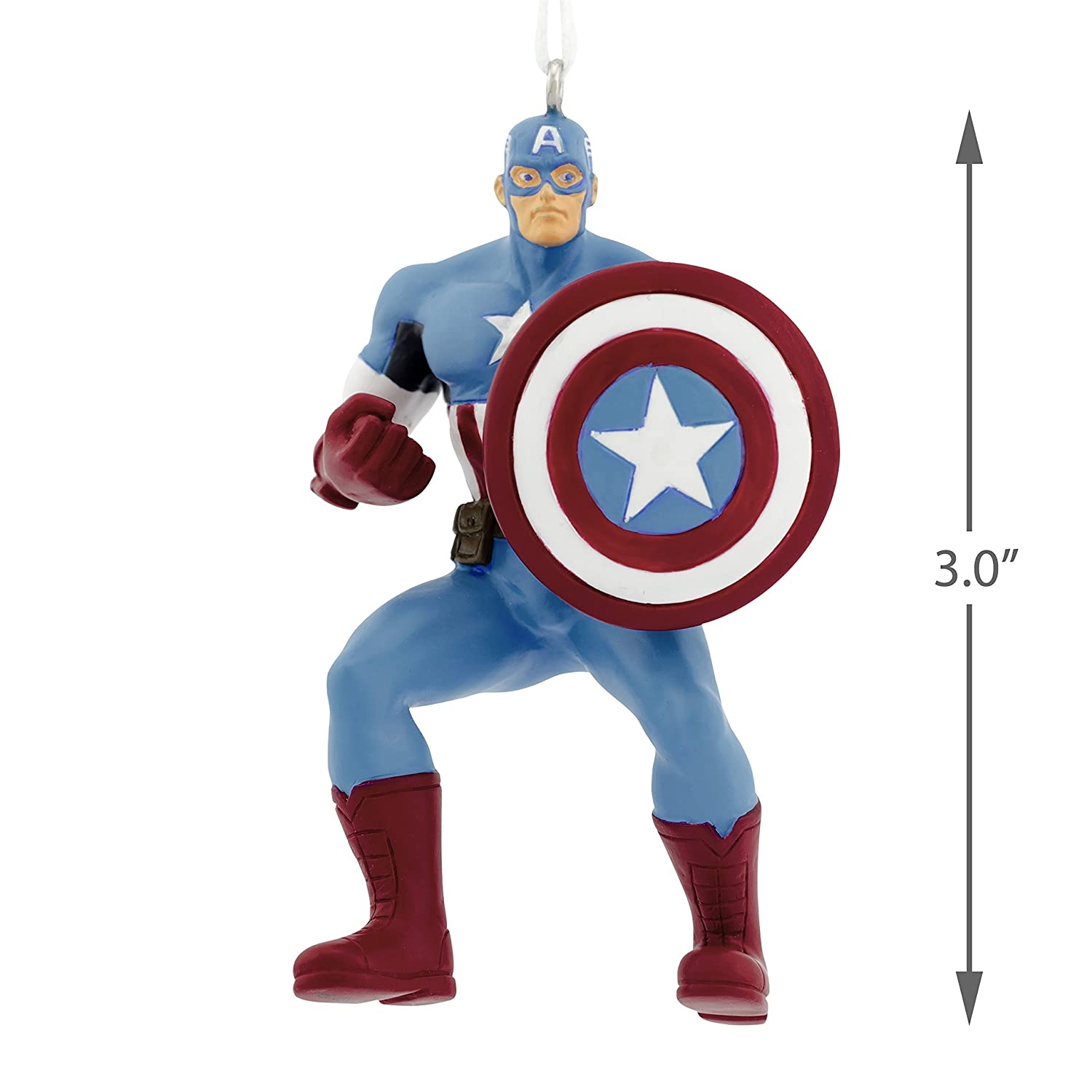 Amazon.com: Hallmark Marvel Captain America Christmas Ornaments ...