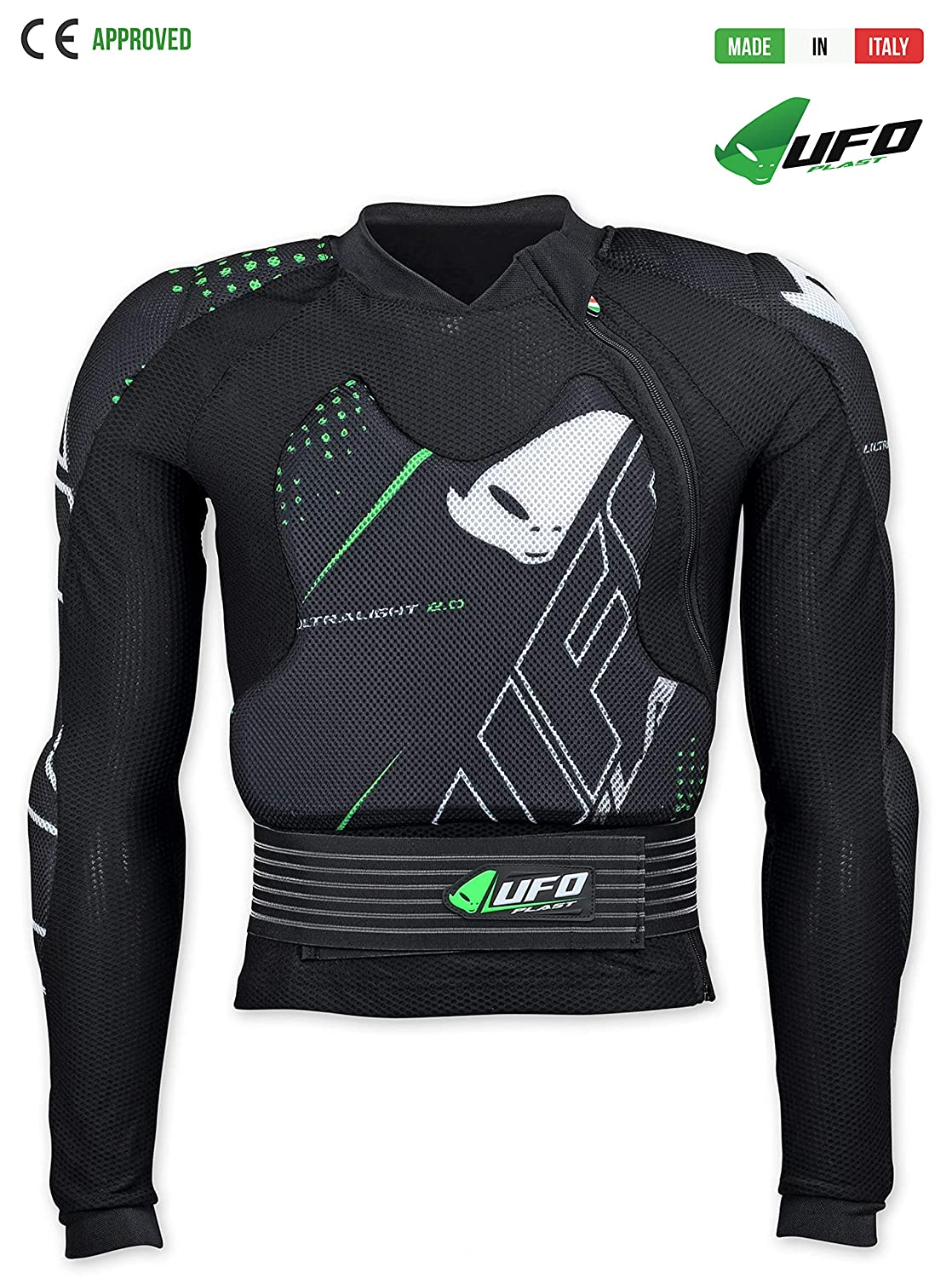 L//XL UFO PLAST Made in Italy PE02375 ULTRALIGHT 2.0 Armored Body Protector//Size