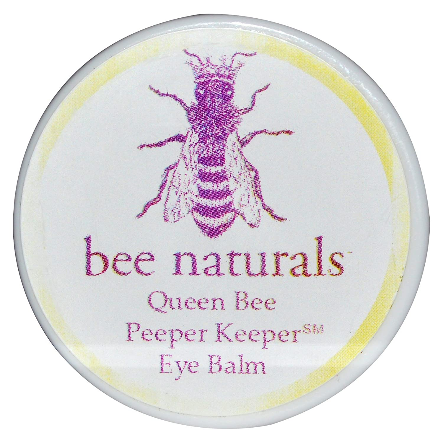 Bee Naturals Queen Bee Peeper Keeper Eye Balm - Reduces Eye Wrinkles and Moisturizes Skin - Vitamin E and 10 Different Natural Nutrient Oils - 0.8 Oz