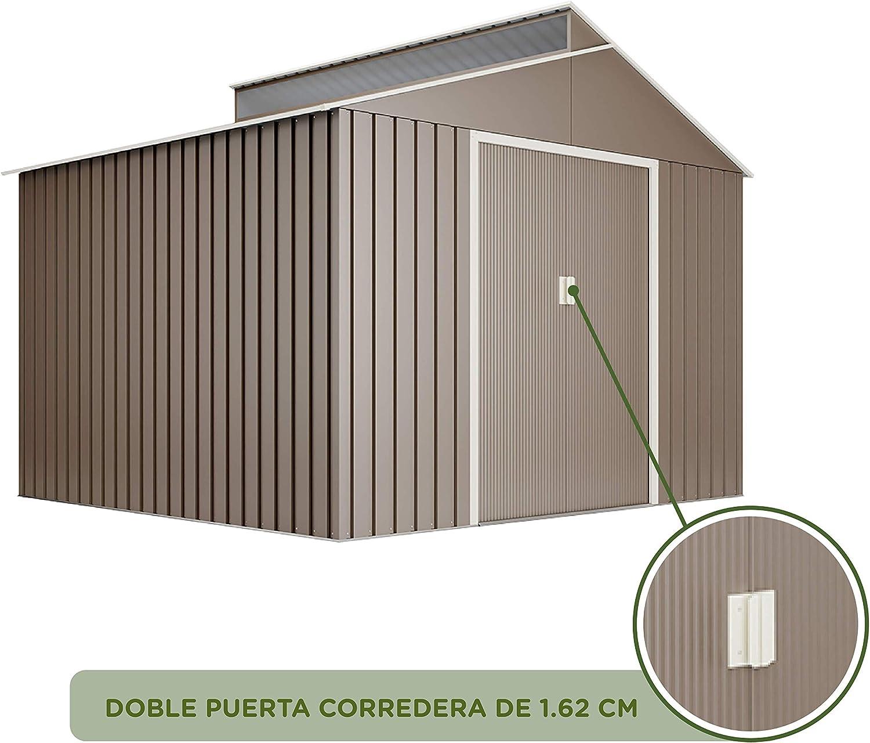 Hoggar by Okoru Cobertizo Premium Metal para Almacenamiento 7,25m2 ...