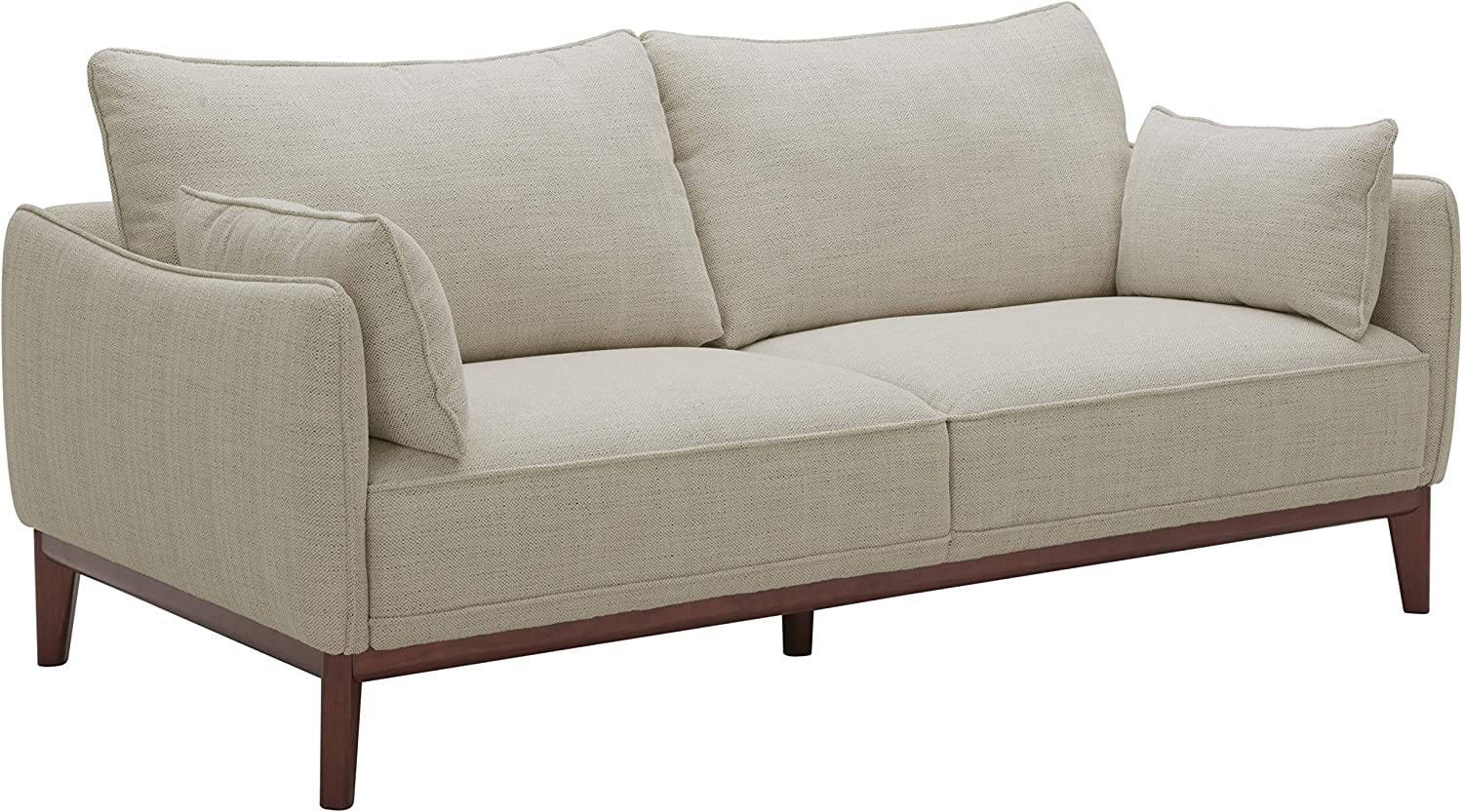 Amazon Brand – Stone & Beam Hillman Mid-Century Sofa with Tapered Legs and Removable Cushions, 78