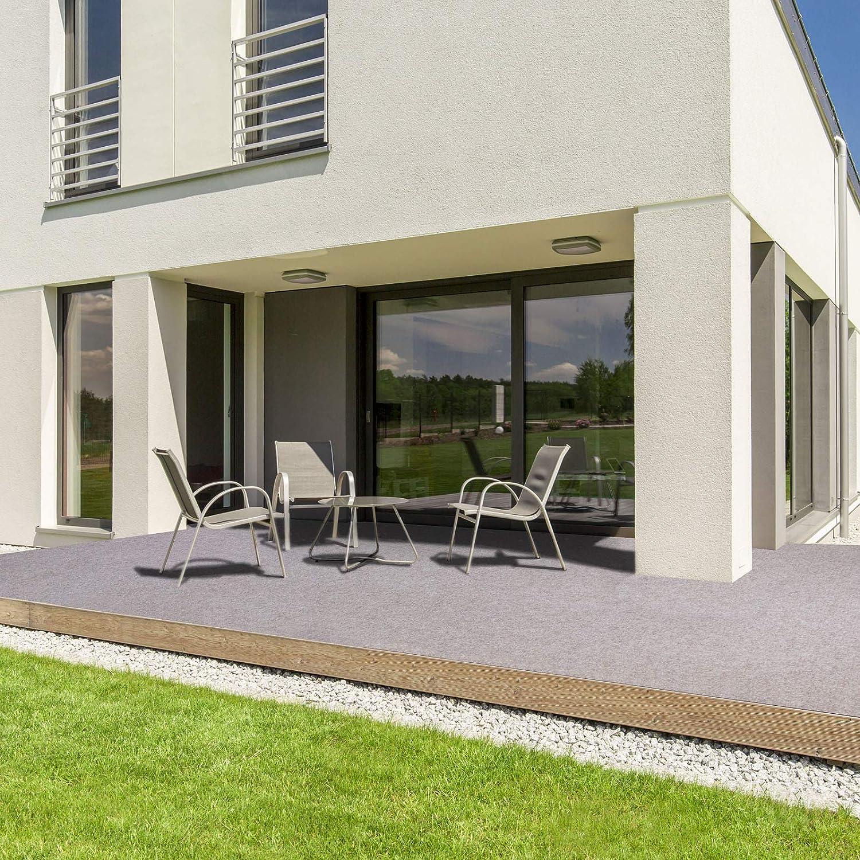Rasenteppich f/ür Terrasse Beige, 133x200 cm Meterware wetterfest /& schnelltrocknend casa pura/® Komfort Kunstrasen mit Noppen Balkon und Freizeit