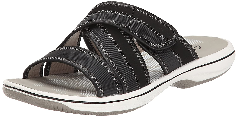 Womens Sandals Clarks Brinkley Arney Black Synthetic