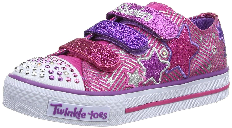 Skechers ShufflesTriple Up 10249L BKSP - Zapatillas de lona para niña color Pink 4 Child Uk 10249N