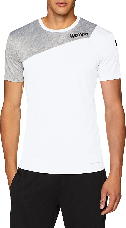 L Hombre Blanco//Gris Oscuro Mezcla Kempa Core 2.0 Shirt Camiseta De Juego De Balonmano