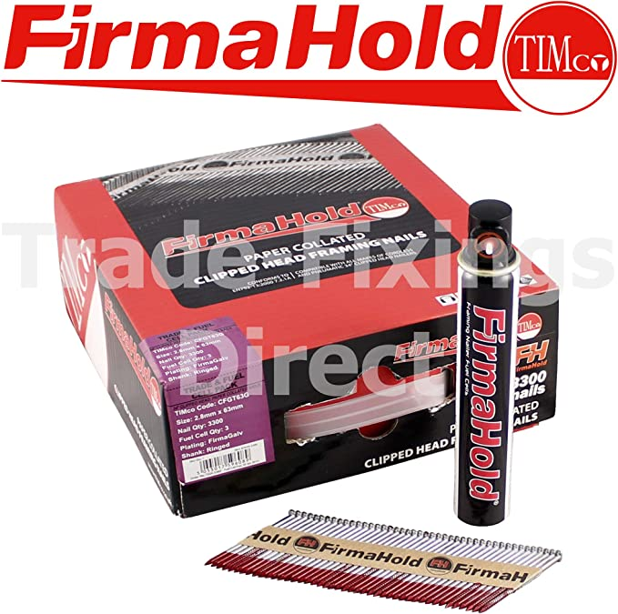 /'Paslode type/' 1st fix nails 50 x 2.8 Nailfire Galv Ring Shank Nails