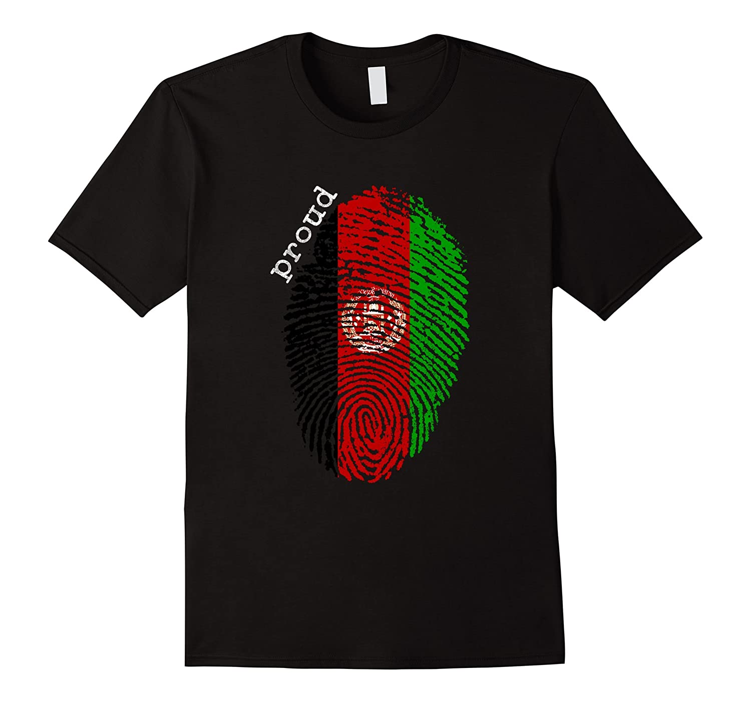 Afghanistan flag t-shirt - Afghanistan National Flag-TD