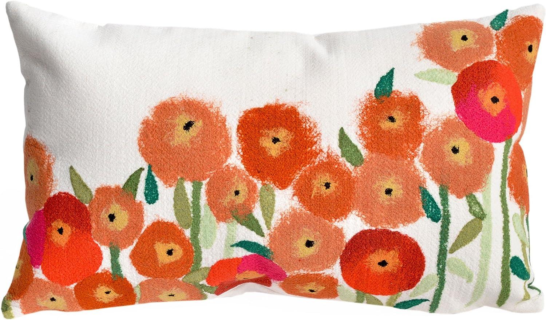 Liora Manne Mystic III Garden Red Indoor/Outdoor Pillow
