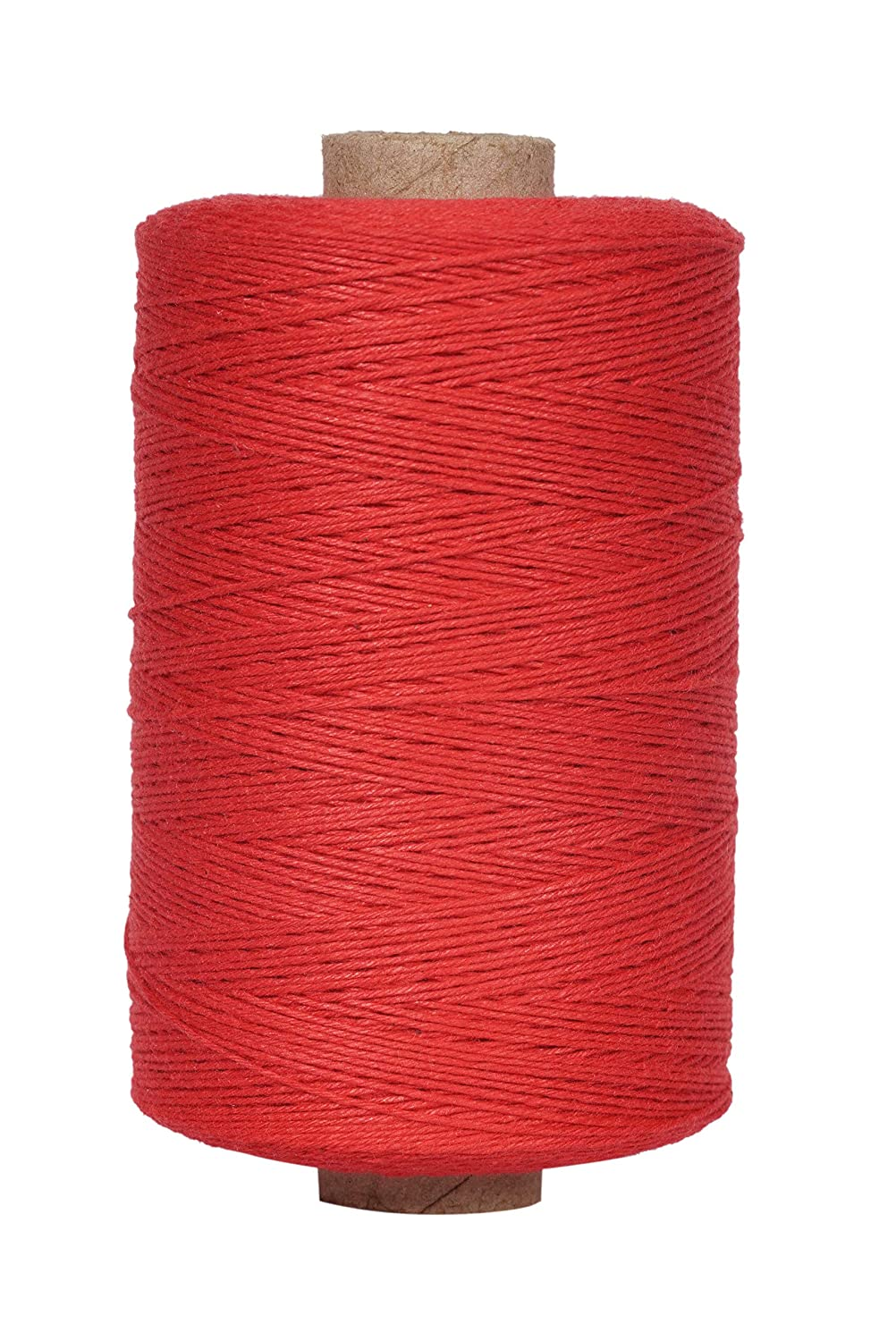 Warp Thread for Weaving Loom - 1 Spool of 850 Yards 8/4 Warp Yarn 100% Cotton - Natural/Off White Color - Perfect Warping Thread for Weaving Tapestry Carpet Rug Blankets and Other Patterns Rising Peaks Products Inc