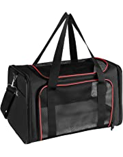 X-ZONE PET Airline Approved Pet Carriers,Soft Sided Collapsible Pet Travel Carrier for Medium Cats and Puppy