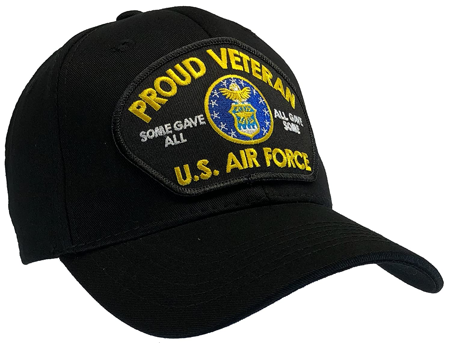 Amazon.com   Air Force Veteran Hat Black Ball Cap 100% Cotton Structured    Everything Else 79f12a51f2b