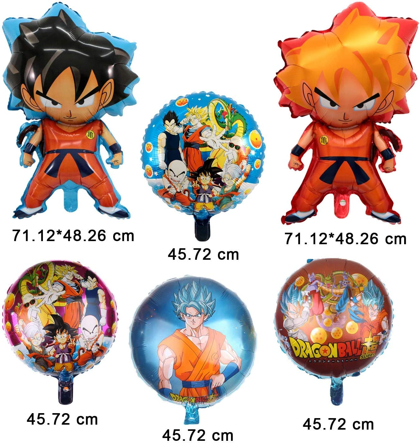 Kit de Globos de Aluminio Dragon Ball Z de 6 Piezas, decoración de ...