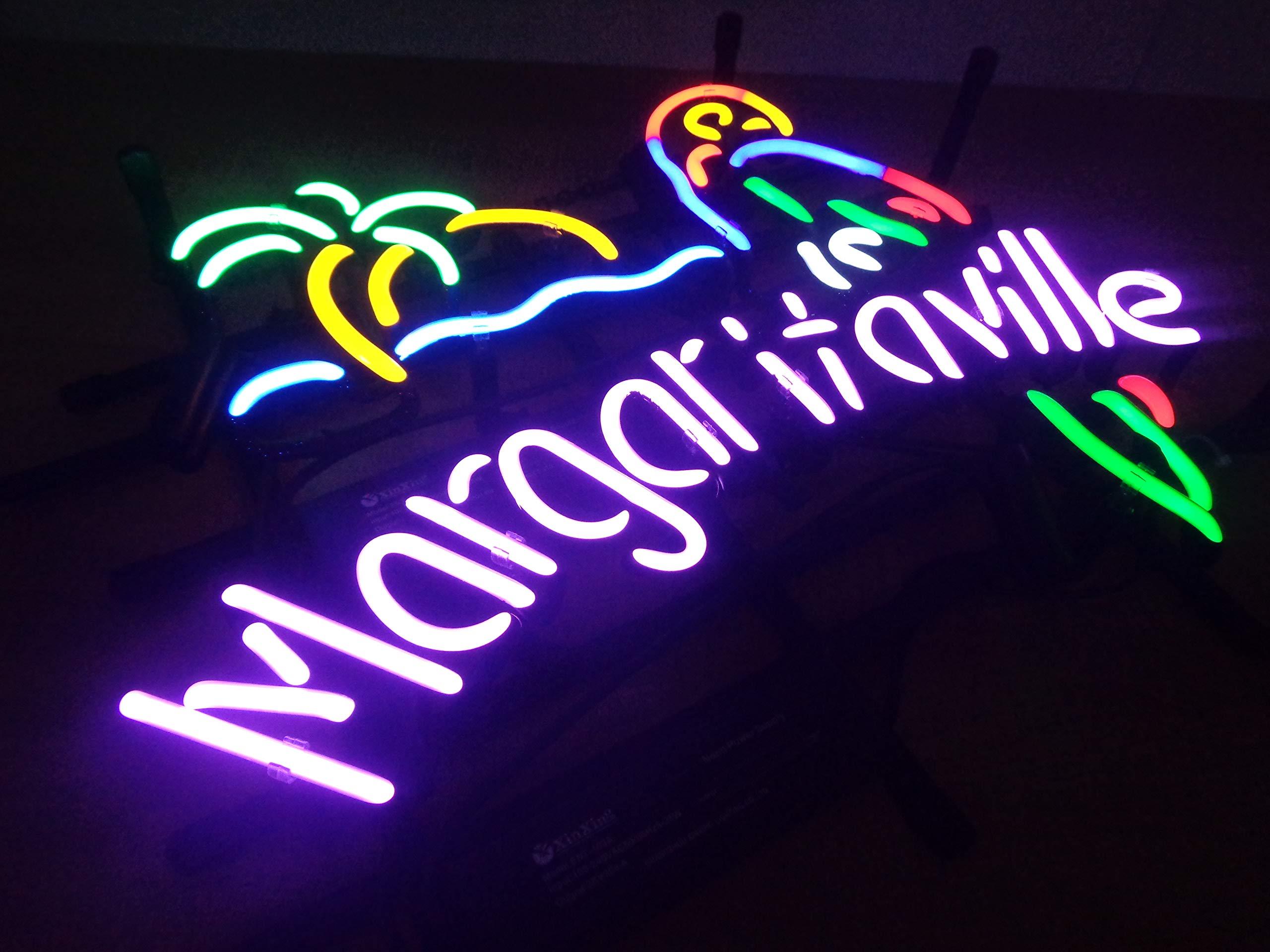 Margaritaville Metal Frame Neon Sign 4232CM Real Glass Neon Sign Light for Beer Bar Pub Garage Room. ...